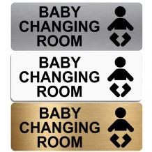 Baby Changing Room-WITH IMAGE-Toilet Sign-Aluminium Metal-Lavatory,Door,Notice,Office,Shop,Toilets